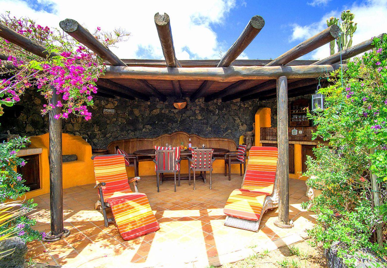Ferienwohnung in La Asomada - Casita Bola (Jurte)